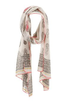 Contrast stitch paisley print scarf (original price, $18) available at #Maurices