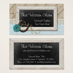 Western bohemian cow skull trendy rustic arrow business card boho rustic country chalkboard that western charm business card farmhouse horseshoe branding marketing by cyanskydesign reheart Image collections
