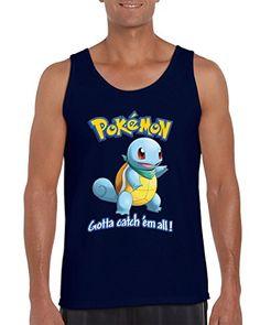 928019c21e Pokemon Squirtle Gotta Catch  em All! Popular Men s Tank Top Shirt for Men(Navy