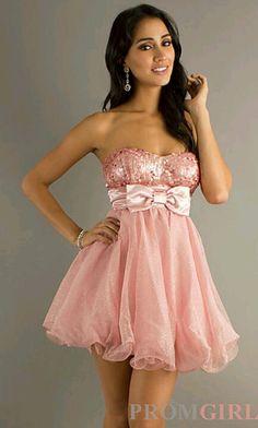 Pink bow sparkley dress