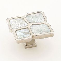 Mother of Pearl Shell cabinet knobs. Polished nickel finish, solid ...