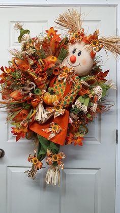 Scarecrow WreathFall WreathScarecrow GirlAutumn WreathFall