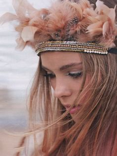 Festival styled wedding headband - perfect for a relaxed and rustic wedding