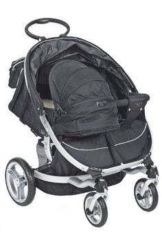 Baby Ion Twin Bassinet - RavenBassinet for ValcoBaby Double ION Strollers. This innovative bassinet inserts directly into your stroller seat . Used Strollers, Twin Strollers, Running Strollers, Jogging Stroller, Double Strollers, Baby Bouncer, Baby Bassinet, Baby Gadgets, Baby Buggy