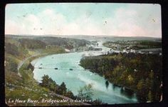 La Have River Bridgewater in Distance 1908 Postcard NS
