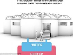 To stay warm, meanwhile, a large subterranean container would hold water to be heated in a...