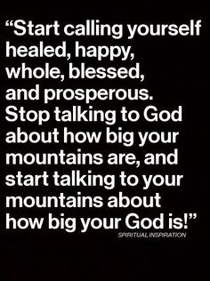 Remind your problems that God is bigger than they are! ❤️