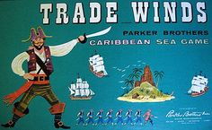 TRADE WINDS Caribbean Sea Game ©Parker Bros 1960 Best Pirate GAME Ever --- notezz for desc - $ 117