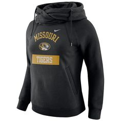 Women's Nike Missouri Tigers Rally Hoodie, Size: Medium, Black