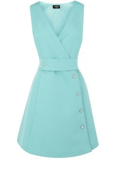 Oasis Shop | Pale Green Chloe Crystal Button Dress | Womens Fashion Clothing | Oasis Stores UK