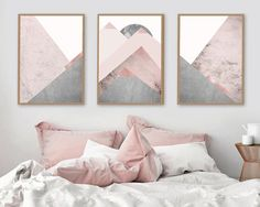 Trending Now Art, Trending now prints, Set of 3 Prints, Mountain Print Set, Grey and Pink, Blush Pink, Scandinavian Prints, Downloads A stunning on trend set of 3 Scandi Mountains in tones of blush pink and Grey. THESE ARE INSTANT DOWNLOADS – Your files will be available immediately after purchase. :::: Please note that this is a digital download ONLY, no physical product will be shipped :::: :::: How it works :::: 1. Purchase this listing 2. Once you are on the download page, you will re...