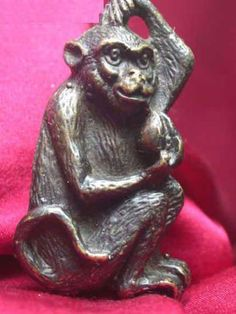 Rare Collectibles Chinese Old Style Brass Handmade Monkey Lock With Key NR