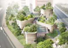 Thomas Heatherwick cria centro de saúde envolto por plantas