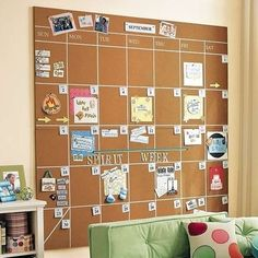cork board schedule