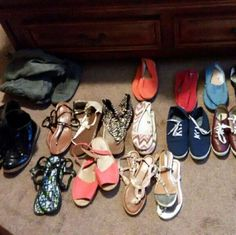 Assorted Women Flats Shoes,Sandals And Boots