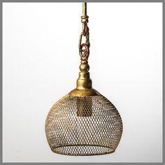 KEIRA XSMALL GOLD PENDANT H18D19cm