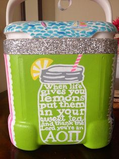 sororities aren't about drinking but WHO DOESN'T WANT A SPARKLE COOLER COME ON