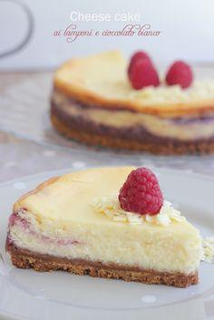 Dolce Salsarosa: Cheese cake ai lamponi e cioccolato bianco