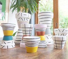 DIY plant pots. Design by Doo.dah #DIY #plants #green #indoor