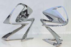 futuristisches stuhl design polliert zaha unrealistische formen