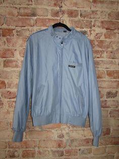 Vintage 80's Members Only Carolina Blue Jacket Size Large by RackRaidersVintage, $24.00