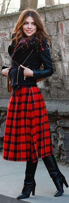 #Fashion by Maritsa...wearing, BSL Tartan skirt ! Etek, Maje Jacket ! Ceket, ZARA AW13 Scarf ! Şal – yenisezon, Valentino Boots ! Botlar