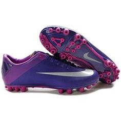 http://www.asneakers4u.com New Discount Nike Jnr Mercurial Victory II AG Football Boot In Rurple/Black/Sliver