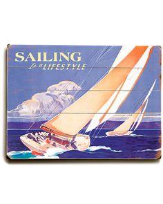 "Vintage Arte ""Sailing"""