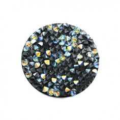 Swarovski Crystal rock Crystal AB noir - site vente apprêts pour création de bijoux fantaisie - www.calypsobijoux.com