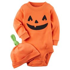 Carter's 2 Piece Pumpkin Hat And Collectible Bodysuit 3 Months: Get your little one ready for Halloween in this pumpkin themed bodysuit and hat set from Carter's. Baby Boy Halloween, Baby Halloween Outfits, Halloween Kostüm, Halloween Costumes For Kids, Holiday Outfits, Dinosaur Halloween, Infant Halloween, Homemade Halloween, Christmas Baby