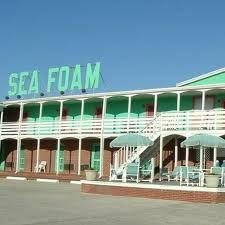 Sea Foam Motel...Nags Head, NC. Why did all these cool places get demolished??? To make room for too big, ugly cottages that take up entirely to much of the natural beauty of the OBX. (Rant over)