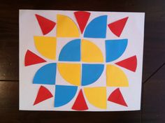 Fraction Art - Students create a colourful art piece while learning about shape, symmetry & fractions!