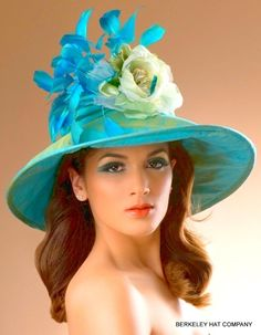 Kentucky Derby Hat of the Day - Silk Finish Turn Down Derby Hat