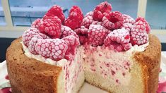 Nadiya's raspberry ice cream cake