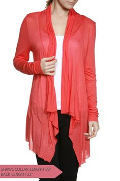 Draped Flyaway Lightweight Cardigan (3 Colors Available)
