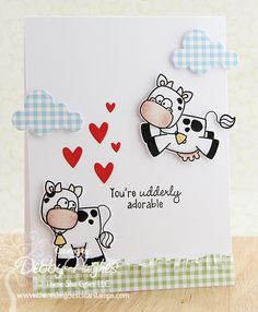 There She Goes Clear Stamps: Trendsetter Tuesday- Debby Valentine Crafts, Valentine Day Cards, Valentines, There She Goes, Doodle Designs, Animal Cards, Card Maker, Paper Cards, Kids Cards