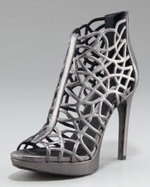 """Vera Wang Leather Cage Sandal.  The Whole VW fall """"Lavendar"""" collection is stunning."""