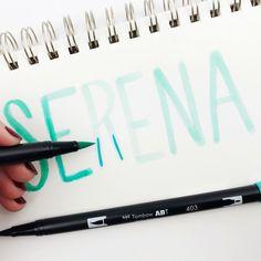 Easy Blending For Beginner Letterers by @serena_bee for #tombowusa Tombow Pens, Tombow Usa, Types Of Lettering, Hand Lettering, Handwriting Styles, Blender Pen, Short Words, Brush Pen, Modern Calligraphy
