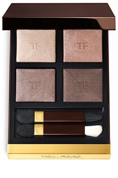 Shop TOM FORD's Eye Color Quad Eyeshadow Palette at Sephora. This palette of coordinated eyeshadows is designed to create soft or bold looks. Metallic Eyeshadow Palette, Contour With Eyeshadow, Sparkle Eyeshadow, Eyeshadow Makeup, Makeup Brushes, Quad, Sephora, Beauty Makeup, Flawless Makeup