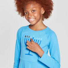 Girls  Flip Sequin Hanukkah Dress - Cat   Jack™ Blue 5f32194bc