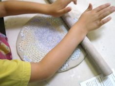 Use lace to create texture on your pottery or baking   I Love this !!!  LIVE INSPIRED LIVE WELL