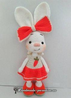 Amigurumi conejito en el vestir