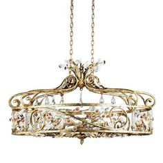 Eurofase - Dahlia Collection 6-Light Antique Gold Chandelier - 14455-018 - Home Depot Canada  Is that a crown :o