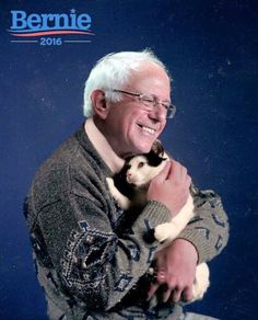 Bernie Sanders...you've officially stole my heart. Adorable.