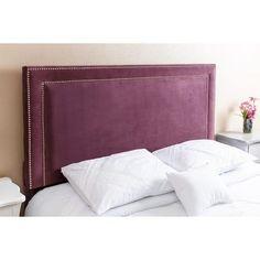 Abbyson Living Tamey Nail Head Trim Purple Velvet Queen/ Full Headboard Bed