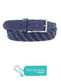 "Dark Blue Adjustable Leather Belt 130 cm (51.18"") BLT840 from Nazo Design… #handmadeatamazon #nazodesign"