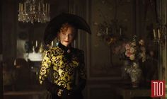 Cinderella-Trailer-Cate-Blanchett-Movie-Preview-Tom-Lorenzo-Site-TLO (1) Reminds me of the yellow and black number Glenn Close wears in Dangerous Liaisons.