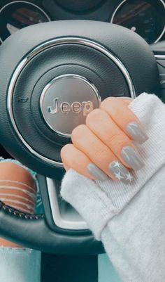 Most Sexy and Trendy Prom and Wedding Acrylic Nails and Matte Nails for this Season - Amately Simple Acrylic Nails, Best Acrylic Nails, Summer Acrylic Nails, Acrylic Nail Designs, Simple Nails, Star Nail Designs, Grey Nail Designs, Nail Summer, Simple Nail Designs