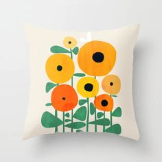 Buy Sunflower and Bee Throw Pillow by budikwan. Worldwide shipping available at Society6.com. Just one of millions of high quality products available.