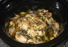 Rosemary & Lemon Crockpot Chicken  #Foodforthewarrior